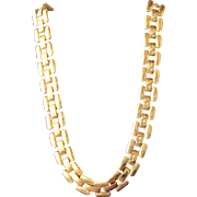 Napier Necklace Gold Metal Heavy Chain Nice