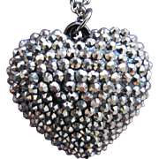 Heart Steel Beaded Necklace 31 Inches Park Lane
