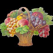 SALE Victorian Die Cut Fruit Basket Germany Gorgeous