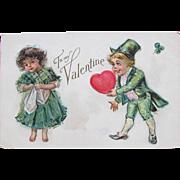 SALE Valentine's Post Card with Frances Brundage Children Nations Series