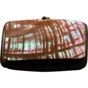 Victorian Purse Mother of Pearl for Coins and Keys