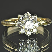 .70 Carat Diamond Flower Ring