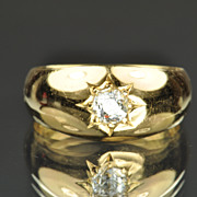 .43 Carat Old Mine Cut Diamond Band