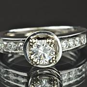 1.35 Carat Diamond Engagement Ring / .50 Center