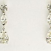 3.61 Carat Diamond Dangle Earrings