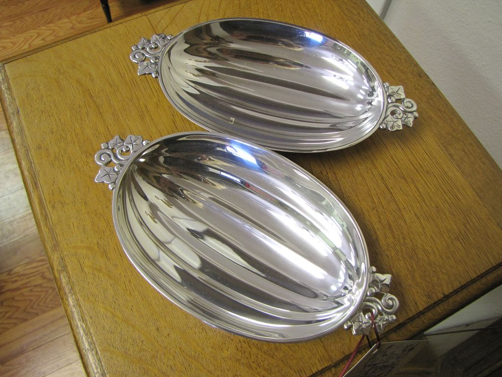 Pair of Tiffany & Co. Sterling Silver Serving Dishes