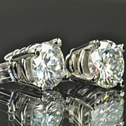 1.30 Carat Diamond Stud Earrings / EGL Certified / CLEARANCE SALE!!