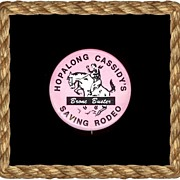 1950's Rare Pink Hopalong Cassidy's Saving Rodeo Bronc Buster Pin-Back Button