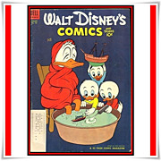 1954 Walt Disney's Comics and Stories Comic, No. 160, with LA Rams Tom Fears, Marked 50% Off