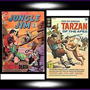 1969 Jungle Jim Comic, No. 26, & 1970 Tarzan Of The Apes Comic, No. 194, Marked 50% Off