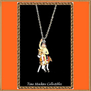 1980 Tonto with Horse Scout Charm Pendant Necklace, Mint
