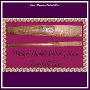Vintage Midget Model Rollin Wilson Baseball Bat, Marked 50% Off