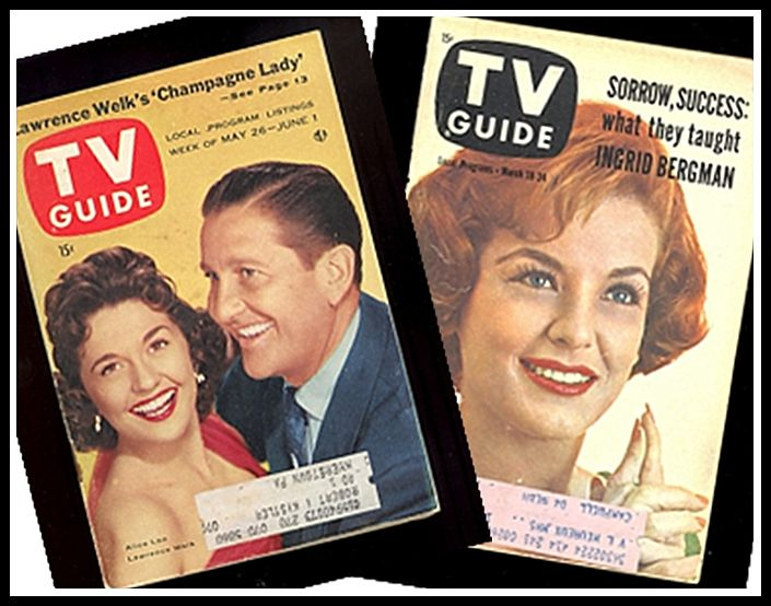 Two TV Guides with Lawrence Welk & Marjorie Lord covers, Marked 50% Off