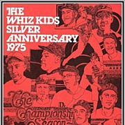 1975 Phillies Whiz Kids Silver Anniversary Souvenir Baseball Program, Mint, Marked 50% Off