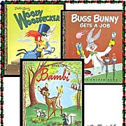 Bugs Bunny, Woody Woodpecker & Bambi First Edition Little Golden Books, Marked 50% Off