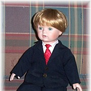SALE Michael's First X'mas Doll, Dynasty Doll Collection Doll No. D738, Marked Over 50% Off