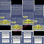"""1966 Sunoco """"Sunny Dollars"""" Contest Game Pieces, Marked 50% Off and more"""