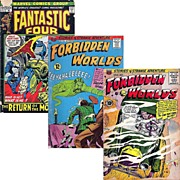 1972 Fantastic Four Comic, No. 124, & Two Forbidden World Comics, 1957-No. 61, 1966-No. 139, Marked Over 50% Off