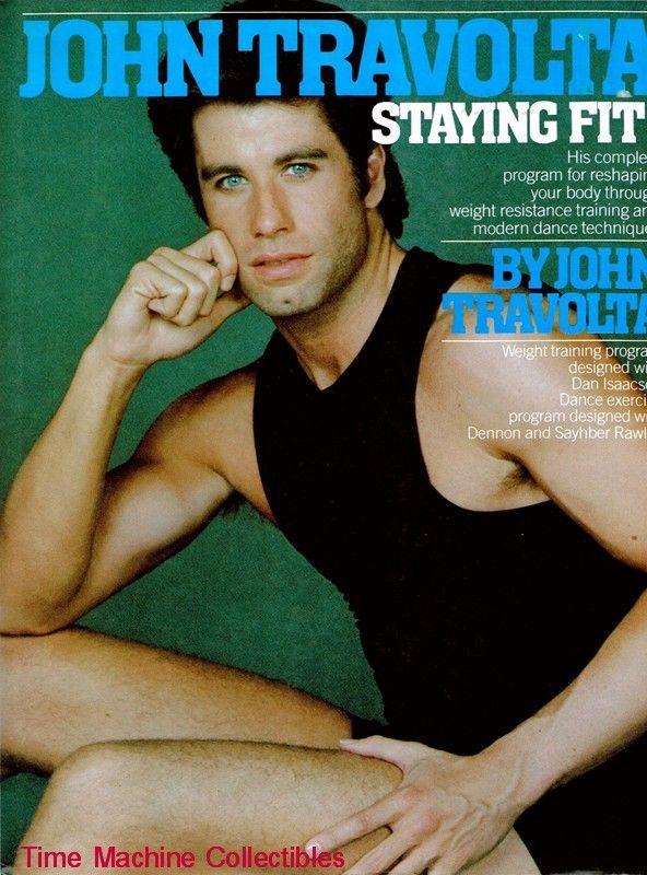 1984 John Travolta Staying Fit!  Exercise Book