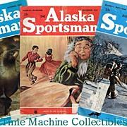 Three 1950's Alaska Sportsman Magazines