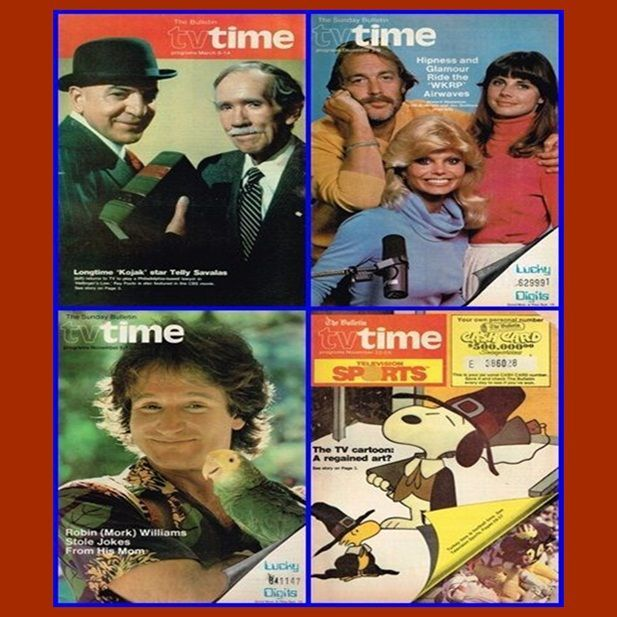 Eight 1970's & 1981 TV Time, Robin Williams, Phila. Sunday Bulletin