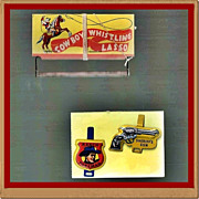 Two 1953 Post Cereal Roy Rogers Premiums & a Cowboy Whistling Lasso