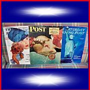 WWII Era Saturday Evening Posts, 1939/1942/1943