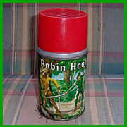 1956 Robin Hood Metal/Glass Thermos‏ by Aladdin