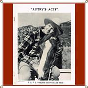 1950 Gene Autry Aces Fan Club Newsletter Twelfth Anniversary Year