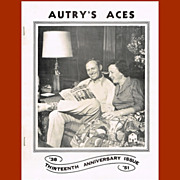 1951 Gene Autry Autry's Aces Fan Club Newsletter, 13th Anniversary Issue