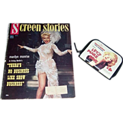 1954 Marilyn Monroe Cover Screen Stories Magazine & Marilyn Monroe Change Purse