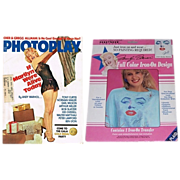 1975 Photoplay Magazine Marilyn Monroe Cover & 1990 Hollywood Legends Marilyn Monroe Iron-On Transfer
