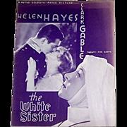 1933 The White Sister Movie Souvenir Program & Two Helen Hayes Publicity Photos