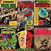 Six 1950's, 1960's, 1970's Science Fiction Comic Books