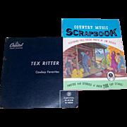 Tex Ritter 1969 Autographed Photo & 1955 Tex Ritter Cowboy Favorites Capitol Record Album