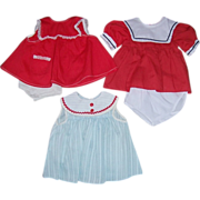 """Three Pretty Doll Dresses for 16"""" Tall and Up Dolls"""