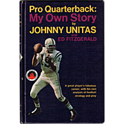 1968 Pro Quarterback My Own Story Book by Johnny Unitas