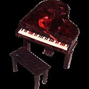 Renwal Plastic Grand Piano, No. L74, and Bench, No. L75