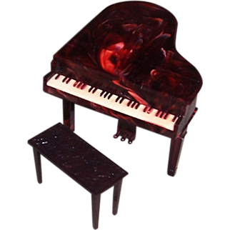 Renwal Plastic Grand Piano, No. L74, and Bench, No. L75