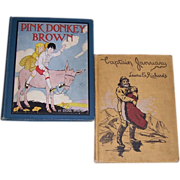 1902 Captain January & 1925 Pink Donkey Brown Children's Books