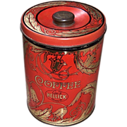 1950's Large Geo. F. Hellick Coffee Company Canister