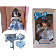 """1988 Ginny Milkmaid Doll, 8"""" Tall, #71-6390, Vogue Dolls, Ginny and Friends Collection"""