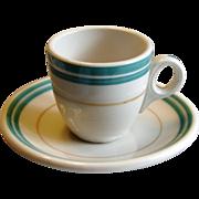Southern Railroad China Piedmont Demitasse Cup & Saucer Set