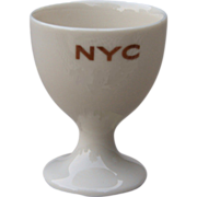 New York Central Railroad Mercury China Single Egg Cup