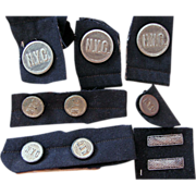NY Central Railroad Group of Uniform Buttons/Service Bars