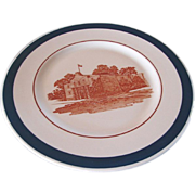 "MK&T Railroad China Blue ""Alamo"" Service Plate"