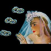 1947 Vogue Fashion Magazine Wedding Jewelry Schiaparelli Eisenberg Cartier Advertising
