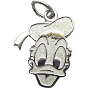 Sterling Silver Bracelet Charm Donald Duck Disney