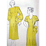 1940s Cocktail Dress Sewing Pattern Extra Small 40s Clothing