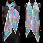 Exquisite Scarf Vintage Vera Neumann Silk Chiffon Perfect Pastels